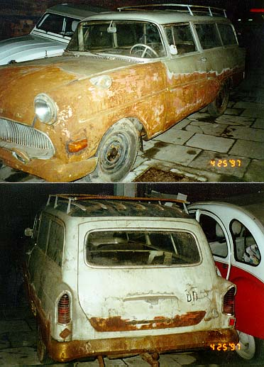 1957 Opel PI CarAvan used and abused in the former GDR